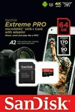 GENUINE SANDISK 64GB EXTREME PRO MICRO SD SDXC CARD V30 A2 170MB/S + SD ADAPTER