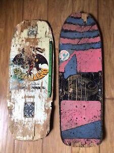 Vtg 1980-81 Powell Peralta Steve Caballero Skateboard Deck Lot CAB Bones Brigade