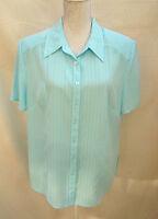 Elvi gorgeous sea green short sleeve top / blouse Size 18