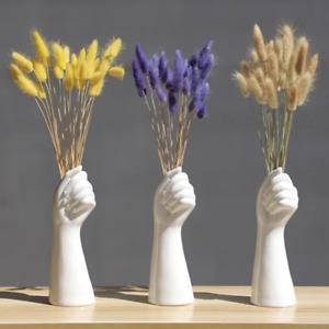 Modern Nordic Ceramic Hand Vase Flowers  Home Office Decor Living Room Ornament