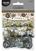 Gold Celebration 50th Birthday Confetti