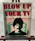 """John Prine """"Blow Up Your TV"""" Spray Paint on 11x14 Canvas"""