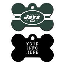 New York Jets Custom Engraved Pet Tag - Dog Bone Shape