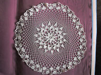 #1219  Beautiful Vintage Hand Made Tablecloth  75cm/(29.5'')