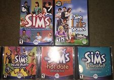 The Sims 1 PC + 4 Expansions (Hot Date, House Party, Unleashed, Life Stories)