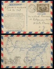 Mayfairstamps Canada First Flight cover 1929 St John to Moncton Map Card wwh4043