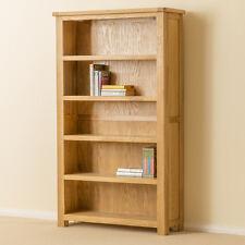 Roseland Oak Bookcase / Solid Oak Wide Bookcase / Wood Large Book Shelf / New