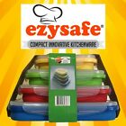 Ezysafe Food Storage Containers 4 Rectangle Silicone Storage Camping Collapsible