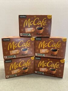 Pumpkin Spice Limited Edition K-Cup Pods (5 BOXES) 60 pods by McCafe