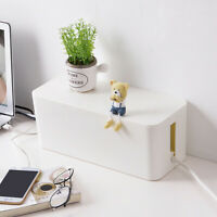 USB Wire Cable Storage Box Case Tidy Management Plug Socket Safety Organizer S/M