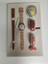 Vintage Swatch- Hors d' Oeuvre - Sushi Swatch Watch Box Set Includes Box - Rare