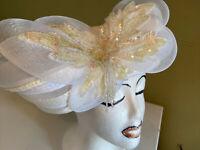 Gorgeous Beaded & Sequined White Deborah Of New York Dress/Church Hat