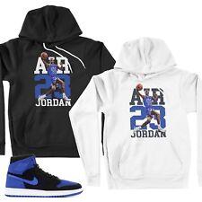 Pullover Hoodie Match Michael Air Jordan 1 Retro High Flyknit Black & Game Royal