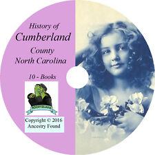CUMBERLAND County North Carolina NC - History Genealogy Fayetteville -10 Book CD