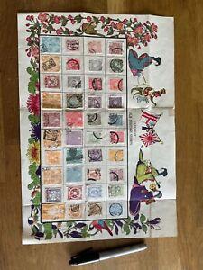 Japan Japanese Stamps on poster jp1