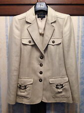 Luisa Spagnoli giacca di viscosa e lino colore avorio Tg.42