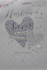 Husband Silver 25th Wedding Anniversary Card