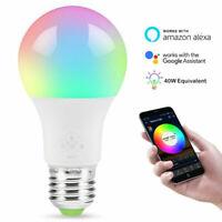 Intelligente LED-Glühbirne für Alexa / Google Home App Control Mehrfarben-EIXUI