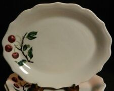 """Vintage (3) Rare Syracuse China Cherry Branch 11.75"""" Oval Dinner Plates Excellen"""