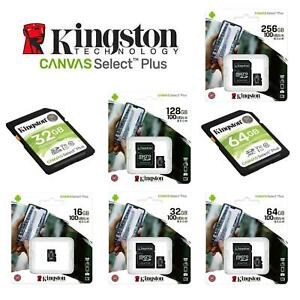 Kingston Micro SD Card 16,32,64 Class 10 SDHC SDXC Phone Memory & Adapter