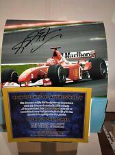 FOTO Michael Schumacher Ferrari Autografata Signed  Photo Autograph  Formula 1