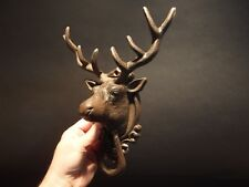 Antique Vintage Style Cast Iron Deer Head Door Knocker Hardware