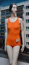 Sporett Damen Badeanzug NOS orange DDR 1982 True Vintage swimsuit VEB m94 / 46