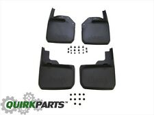 2007-2018 Jeep Wrangler JK FRONT & REAR MOLDED SPLASH GUARDS MUD FLAPS NEW MOPAR