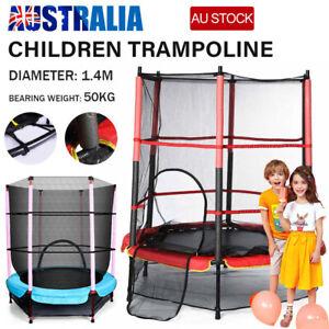 4.5FT Indoor Outdoor Kids Junior Jump Trampoline Enclosure Safety Net Max 45KG