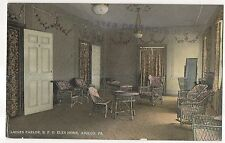 Ladies Parlor, BPO Elks Home APOLLO PA Armstrong County Pennsylvania Postcard