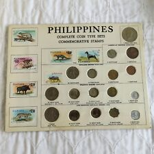 PHILIPPINES 17 COIN AND STAMP SOUVENIR TOURIST SET - sealed pack
