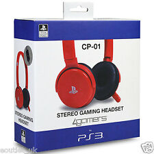 PLAYSTATION 3 cp-01 con licenza ufficiale Stereo Cuffie Gaming (ps3) - Rosso NUOVA