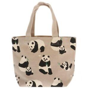 Kotobuki Japanese Mini Tote Student Women Hand Bag Handbag Cotton Bamboo Panda