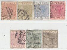 CYPRUS 1882 ISSUE  USED FULL SET  SG.16/22 = SCOTT 19/25