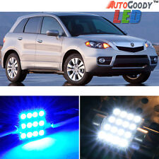 12 x Premium Blue LED Lights Interior Package Kit for Acura RDX 2007-2012 + Tool