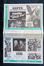 """SANTO Y EL AGUILA REAL"" IRMA SERRANO LA TIGRESA  PRESS SHEET RARE 11"" x 17 1971"