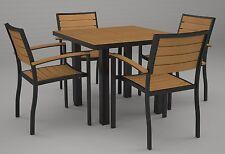 polywood dinning set 5 piece patio furniture pool furniture outdoor furniture