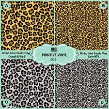 Leopard Pattern Printed Htv, Oracal ,Siser, Craft vinyl- 001