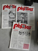 Lot of 3 1983 1984 Phillies Phan o Gram Booklets