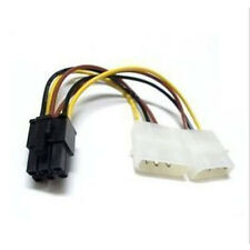 6 Pin PCI-E to 2 X 4 Pin Molex Power Adapter Cable PCI-E VGA Video Cards 6-inch