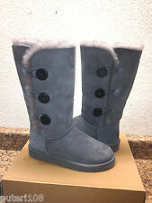 ugg bailey button triplet tall grau grey stiefel us 11/eu 42/uk 9.5 - nib