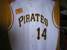 2008 GARY VARSHO Pittsburgh Pirates Game Used Worn Jersey w/ 250 patch