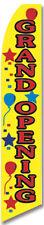 Grand Opening Balloons Flutter Swooper Advertising Sign 25 Wide Banner Flag On