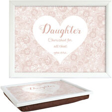 Said With Sentiment 7550 White Lap Tray Daughter