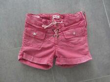 PAMPOLINA Mädchen Shorts Jeans Jeanshose h&m 104 rot Sommer kurze Hose