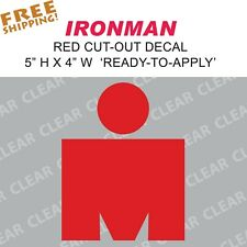 Ironman M Vinyl Sticker Decal triathlon tri 70.3 140.6 m logo