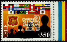 CHILE, AMERICAN ARMIES, XXIV CONFERENCE, MNH, YEAR 2001
