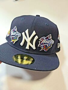 New York Yankees New Era World Series 1996 59FIFTY Fitted Hat champions felt