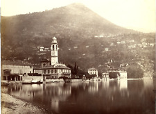 Suisse, Locarno Vintage albumen print Tirage albuminé  21,7x27,6cm  Circa