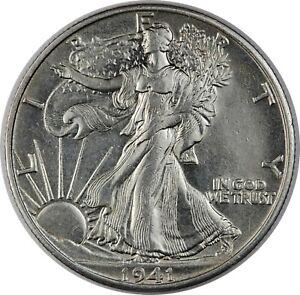 1941-S United States Walking Liberty Half Dollar - CH-BU Choice Brilliant Unc
